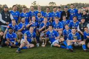 Royals celebrate their undefeated season. Photo: Sitthixay Ditthavong