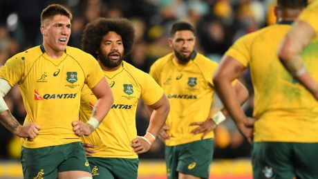 Woeful: Australia conceded 54 points in 48 minutes during Saturday's Test against the All Blacks.
