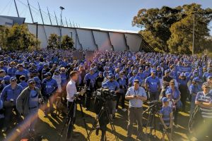 A sea of blue is telling the Australian Ruby Union they 'got it wrong'.