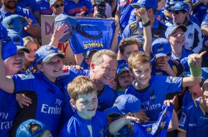 Andrew Forrest in the crowd during a rally in support of the Western Force.