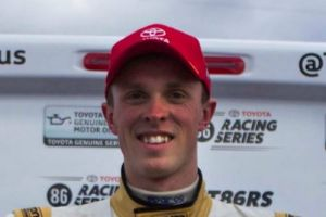 Cameron Hill with another podium finish in the Toyota 86 series.