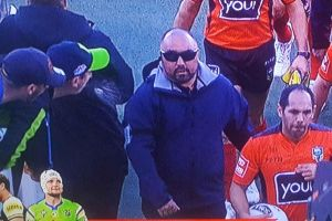 A Raiders member has been banned for 12 months for spitting at the referee.