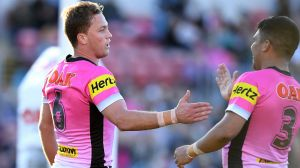 Job nearly done: Matt Moylan and the Panthers are almost assured of a finals spot, and are an outside shot at the top four.