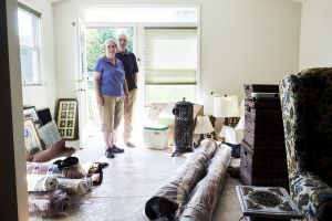 Tena and Ray Bluhm in their new home in the Westminster retirement community in Lake Ridge, Virginia, USA. The Bluhms ...