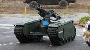 The THeMIS ADDER, from Estonian company Milrem, is a smart unmanned system that could potentially be controlled by AI.