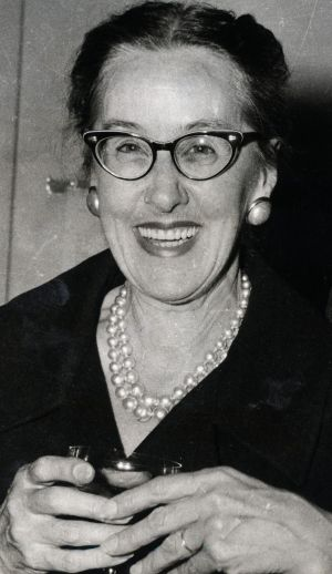 Connie Robertson,  the former Herald women's editor.