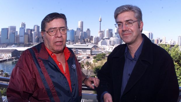 Jerry Lewis with Shaun Micallef.