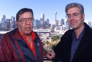 Jerry Lewis with Shaun Micallef