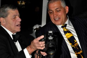 Jerry Lewis and Mick Gatto at a fund raiser for Muscular Dystrophy in Docklands in 2010.