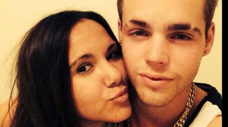 Max Summerfield, pictured with girlfriend Ebony, was hit by a passing car following an altercation with his friends.