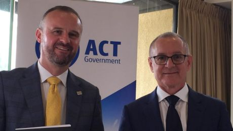 ACT Chief Minister Andrew Barr and South Australia Premier Jay Weatherill signed a memorandum of understanding between ...