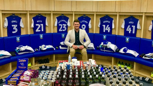 ONTHEGO Sports founder Mick Spencer in the Sheffield Wednesday dressing rooms last week. He flew to the UK for ...