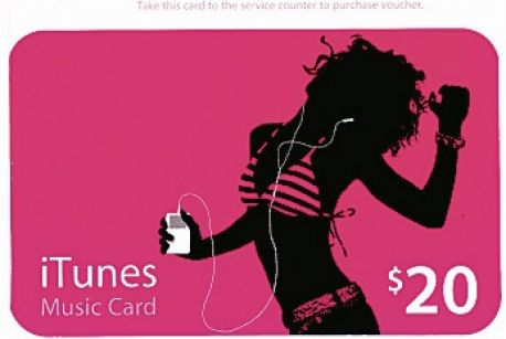 pic shows a iTunes Music Gift Card $20 icon browser used in icon computers smh 051210 (no caption information provided)