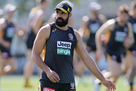 Chris Yarran during a Richmond Tigers AFL pre-season training session at ME Bank Centre in 2015.