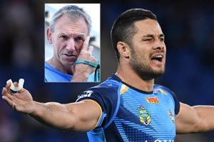 Week of turmoil: Neil Henry, inset, has been sacked and Jarryd Hayne, main, is underperforming at the Gold Coast.
