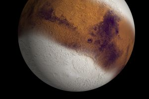 What Mars could have looked like during an ice age 400,000 years ago.