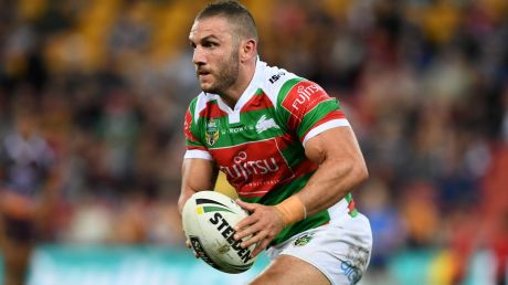 On the outer: Rabbitohs hooker Robbie Farah.