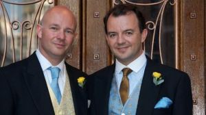 Jason Groves (right) President of Liberals Abroad UK entered into a civil union with his partner in 2011.