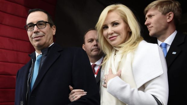 Fashion labels give Mnuchin's wife cold shoulder after Instagram post