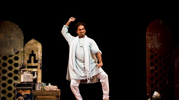 Solo performer Jacob Rajan plays a multitude of characters in <i>The Guru of Chai</I>.