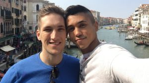 """""""Nothing comes above my relationship with Miguel"""": Rob Nay, left, with his partner Miguel Luciano."""