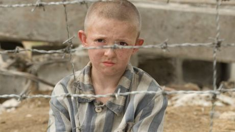 A scene from the film version of the novel The Boy in Striped Pyjamas.