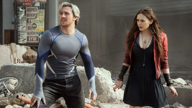 Elizabeth Olsen (right) in Marvel's Avengers: Age of Union.