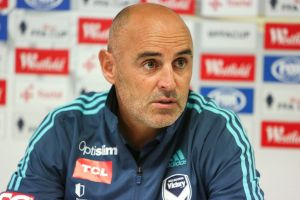 Down and out: Melbourne Victory coach Kevin Muscat.