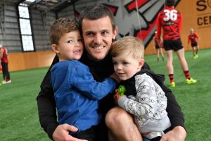 Brent Stanton with his sons Aiden (right) and Connor.
