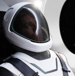 The new spacesuit from ompany SpaceX. It's designed for its crewed flights planned for 2018.