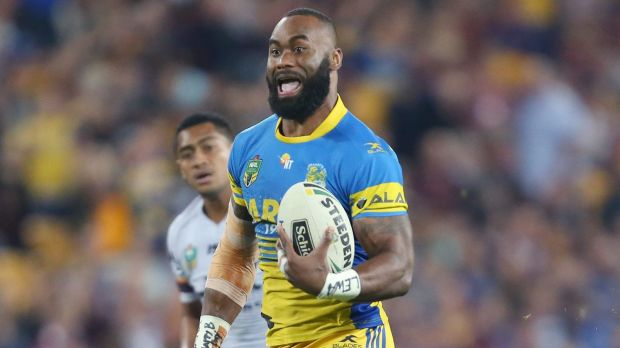 Running free: Semi Radradra takes off for one of his long-range tries.