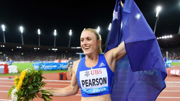 Another title: Sally Pearson is doing a pretty decent job at coaching herself as she heads towards the Commonwealth ...