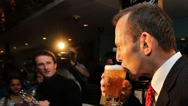 Tony Abbott's lean frame and taut skin betray him as a fitness fanatic whose only secret vice is the occasional shandy lite.