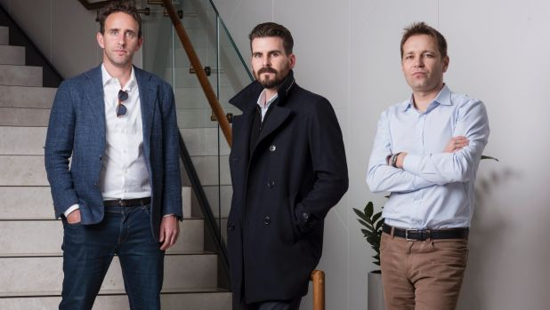 Dan Cohen, James Windon and Jan Pacas, co-founders of Flare, which is tackling financial wellness through the workforce.