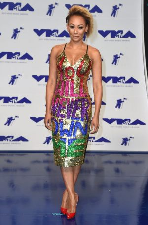 Mel B hit back at Belafonte at the MTV VMAs last month in a dress by Australian designers, Discount Universe, with the ...