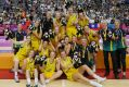 The Emerging Opals celebrate their gold medal win at the World University Games.