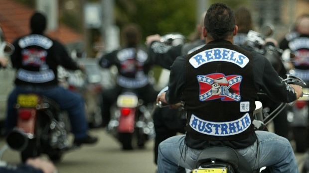 Rebel bikie gang members.  New laws to stop drive-by shootings have been introduced into the ACL Legislative Assembly.