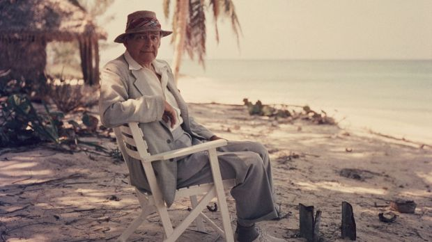 T.S. Eliot in the Bahamas in 1957. Even in his later years, he recalled with pained awkwardness a crucial meeting ...