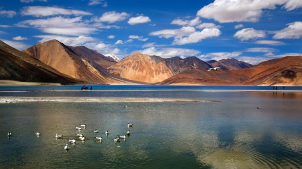 The Pangong lake high up in Ladahak region of India. The Chinese soldiers hurled stones while attempting to enter Ladakh ...