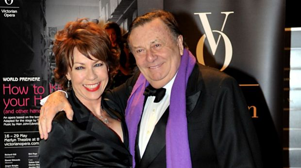 Kathy Lette and Barry Humphries in 2011.