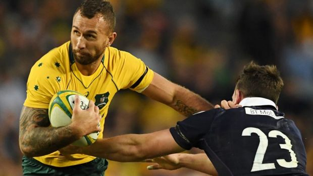 Unclear future: Quade Cooper could make the switch to league, says Mat Rogers.