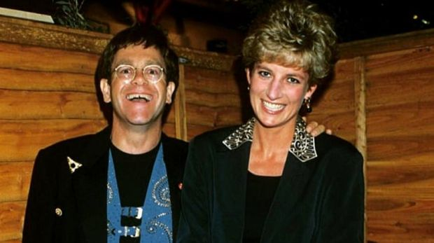 Image posted to social media by Elton John, paying tribute to his late friend Princess Diana.