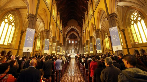 Mass at St Patrick's Cathedral in Melbourne.