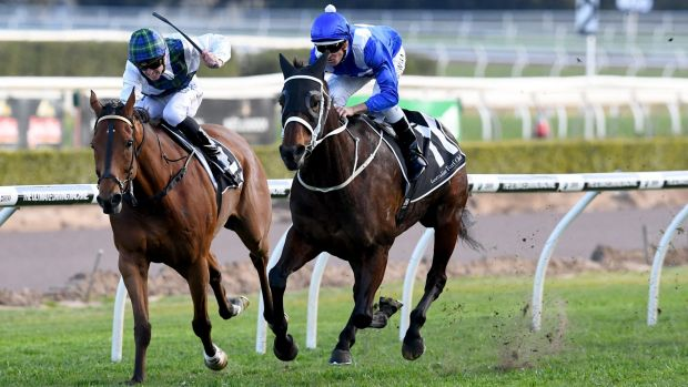 Winx makes it 19 on the spin with late swoop at Randwick