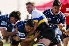 Round one of the National rugby championship. Canberra Vikings v Queensland. Queenslands loose head prop Sef Fa'agase ...