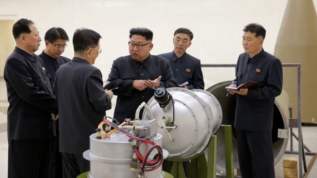 North Korea's state media said leader Kim Jong-un inspected the loading of a hydrogen bomb into a new intercontinental ...