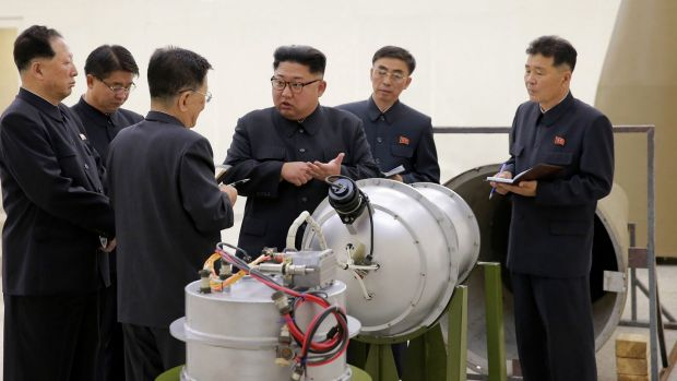 North Korea's state media said leader Kim Jong Un inspected the loading of a hydrogen bomb into a new intercontinental ...