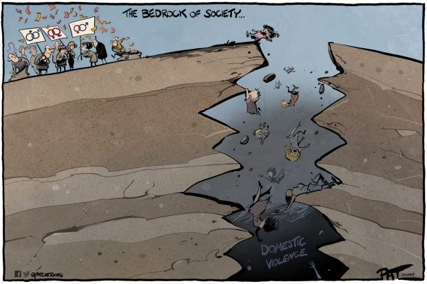 The Canberra Times editorial cartoon for Monday, September 4, 2017. The bedrock of society. Same sex marriage, domestic ...