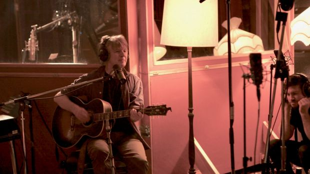 Neil Finn, in Roundhead Studios, says he couldn't be happier with the album.