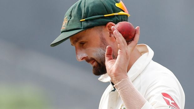 Ahead of the pack: Nathan Lyon has taken 46 wickets this year.